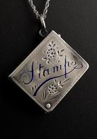 Victorian Silver Stamp Case Pendant (5 of 11)