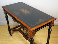 Outstanding Aesthetic Ebonised Burr Walnut Table c.1870 (9 of 10)