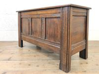 Small Antique Oak Panelled Coffer (8 of 10)