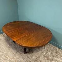 Antique Victorian Mahogany Pedestal Extending Dining Table (3 of 7)
