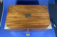 Georgian Solid Mahogany Brassbound Campaign Box (10 of 16)