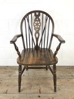Set of Six 20th Century Wheelback Chairs including Two Carvers (6 of 20)