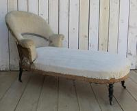 Antique French Chaise Longue Day Bed for re-upholstery (9 of 9)