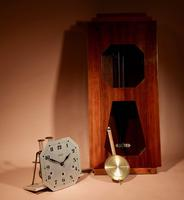 A vedette plain very stylish art deco westminster carillon walnut wall clock french circa 1935 (3 of 15)