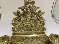 Antique Brass Desk Companion Inkwell Set c.1910 (8 of 8)