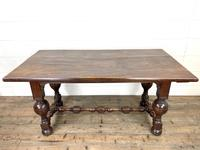 Antique Country Oak Dining Table (3 of 10)