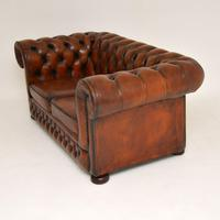Antique Victorian Style Leather 2 Seat Chesterfield Sofa (3 of 13)