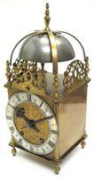 Superb Vintage English Lantern Clock - Pendulum 8-day Striking Mantel Clock c.1890 (3 of 12)