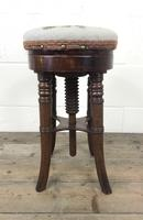 Antique Victorian Walnut Piano Stool (6 of 9)