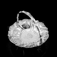Magnificent Large Georgian Solid Silver Basket with Floral Motifs - Joseph & John Angell 1835 (32 of 55)
