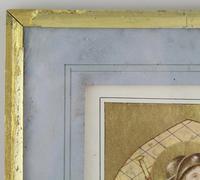 Antique Illuminated Watercolour of Saint Rochus (4 of 7)