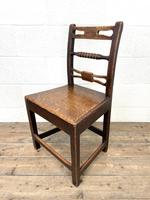 Set of Six Georgian Oak Country Chairs (8 of 10)