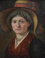 """Swiss School Portrait c1800 Inscribed """"Johann Biedermann 1763-1830"""" (8 of 9)"""