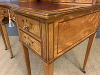 Inlaid Satinwood Carlton House Desk by Jas Shoolbred (4 of 25)