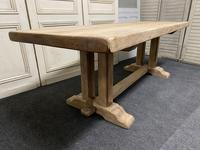 French Bleached Oak Farmhouse Dining Table (8 of 15)