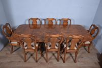 Walnut Dining Table & Eight Chairs (2 of 6)