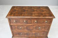 Walnut Oyster Veneer Chest of Drawers (4 of 12)