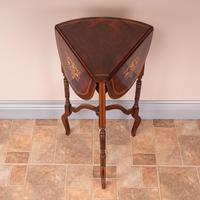 Edwardian Inlaid Rosewood Drop Leaf Occasional Table (16 of 23)