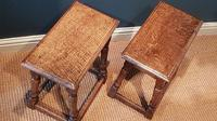 Matching Pair of Antique Oak Joint Stools (4 of 7)