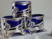 Stunning Levi & Salaman HM Silver Art Nouveau 5 x Piece Cruet c.1902 (7 of 10)