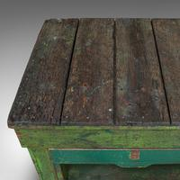Large Antique Industrial Mill Table, English, Pine, Kitchen Island, Victorian (9 of 12)