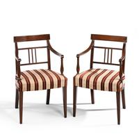 Attractive Pair of Late George III Period Elbow Chairs (2 of 4)