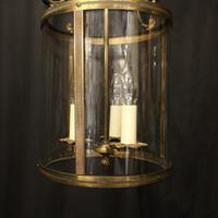 French Gilded Brass Triple Light Antique Lantern (6 of 10)