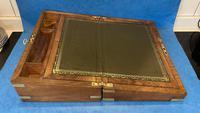 Victorian Brassbound Figured Walnut Writing Slope (14 of 18)