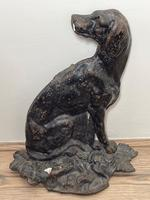 19th Century Country House Seated Hound Dog Cast Iron Door Stop (6 of 37)