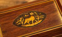 Stunning Partridge Wood Caddy 1820 (4 of 8)