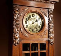 Impressive Black Forest Oak Grunderzeit Longcase Clock c.1910 (5 of 13)