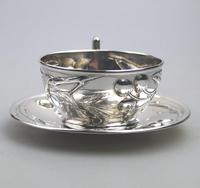 Eduard Friedman - Extremely Rare 800 Solid Silver Vienna Cup & Saucer 1900 (2 of 15)