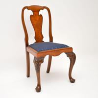Set of 10 Antique Queen Anne Style Burr Walnut Dining Chairs (3 of 13)