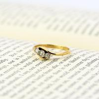 The Antique Old Cut Bezel Set Three Diamond Ring