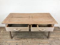 Early 20th Century Antique Oak & Pine Work Table (3 of 15)
