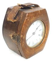 Extremely Rare Miniature Carriage Clock Round Silver Case with Original Case & Platform (4 of 11)
