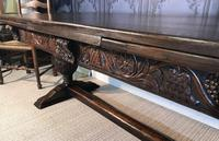 Large Oak Extending Dining Table (4 of 18)