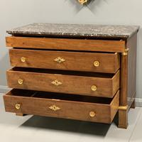 French Empire Commode Chest of Drawers with Marble Top (2 of 7)