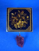 Victorian Rosewood Single Tea Caddy with Micro Mosaic Tunbridge Ware Inlay (6 of 11)