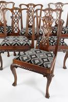 Set of 6 Antique Edwardian Mahogany Chippendale Chairs (13 of 15)