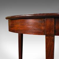 Antique Folding Tea Table, English, Mahogany, Side, Demi Lune, Georgian c.1800 (12 of 12)