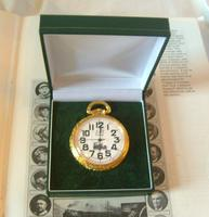 Vintage Pocket Watch 1970s Railroad 12ct Gold Plated West Germany Nos (11 of 11)