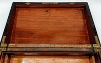 Antique 19th Century Miller Bristol & Clifton Military Writing Slope Large (12 of 12)