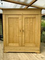 Big! Old 19th Century Pine Double Door Wardrobe - We Deliver & Assemble! (14 of 14)