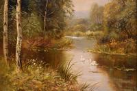 "Oil Painting by John Bonny ""Swans on the Water"" & ""Ducks on the Mill"" (7 of 8)"