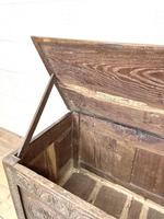 Antique 18th Century Carved Oak Coffer (5 of 10)