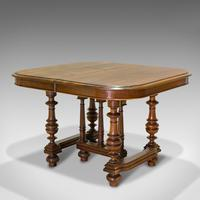 Large Antique Extending Dining Table, French, Walnut, Seats 4-10 c.1900 (7 of 12)