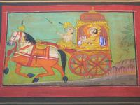 Charming 18th Century Indian Watercolour Prince in Carriage (2 of 5)