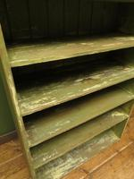 Green Rustic Painted Shelves Kitchen Storage, shabby chic Industrial Shelves (5 of 14)