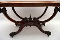 Antique Victorian Burr Walnut Centre Table (6 of 11)